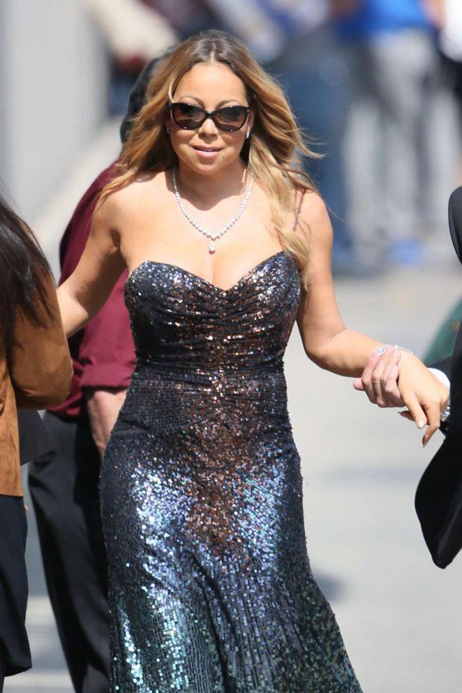 Mariah Carey at Jimmy Kimmel Live in Los Angeles