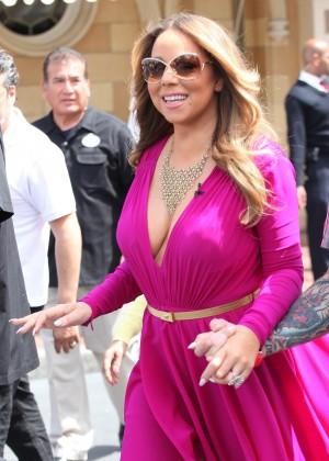 Mariah Carey at 'Live! with Kelly and Michael' at Disneyland