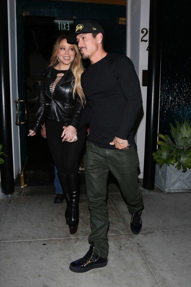 Mariah Carey at Mastros Steakhouse -07