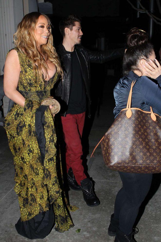 Mariah Carey at Mastros Steakhouse -10