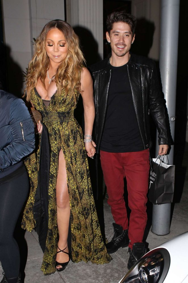 Mariah Carey at Mastros Steakhouse -11