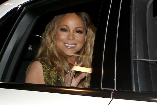 Mariah Carey at Mastros Steakhouse -13