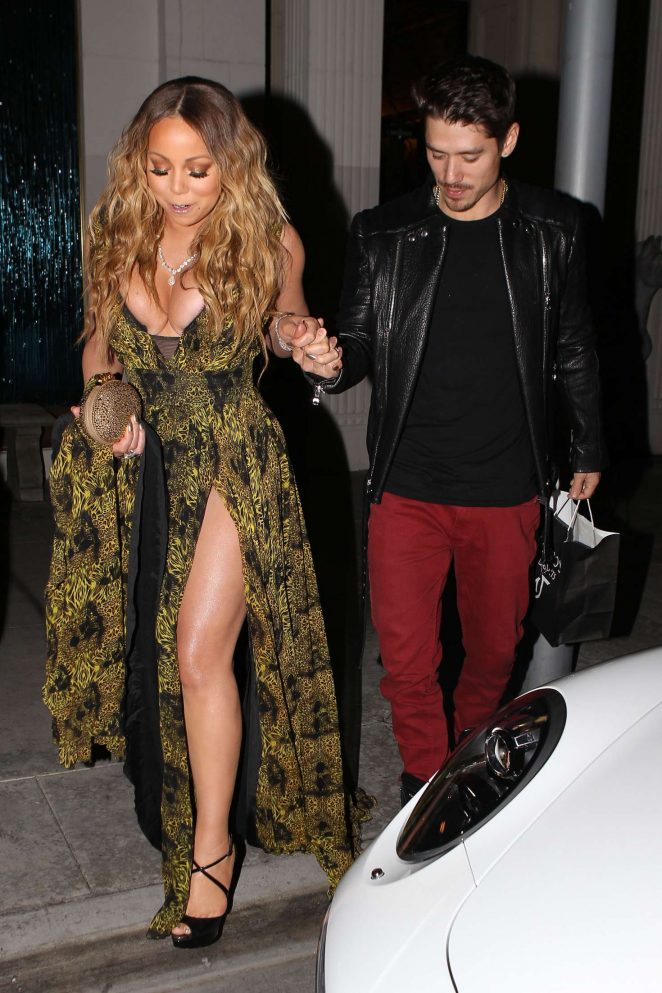 Mariah Carey at Mastros Steakhouse -15