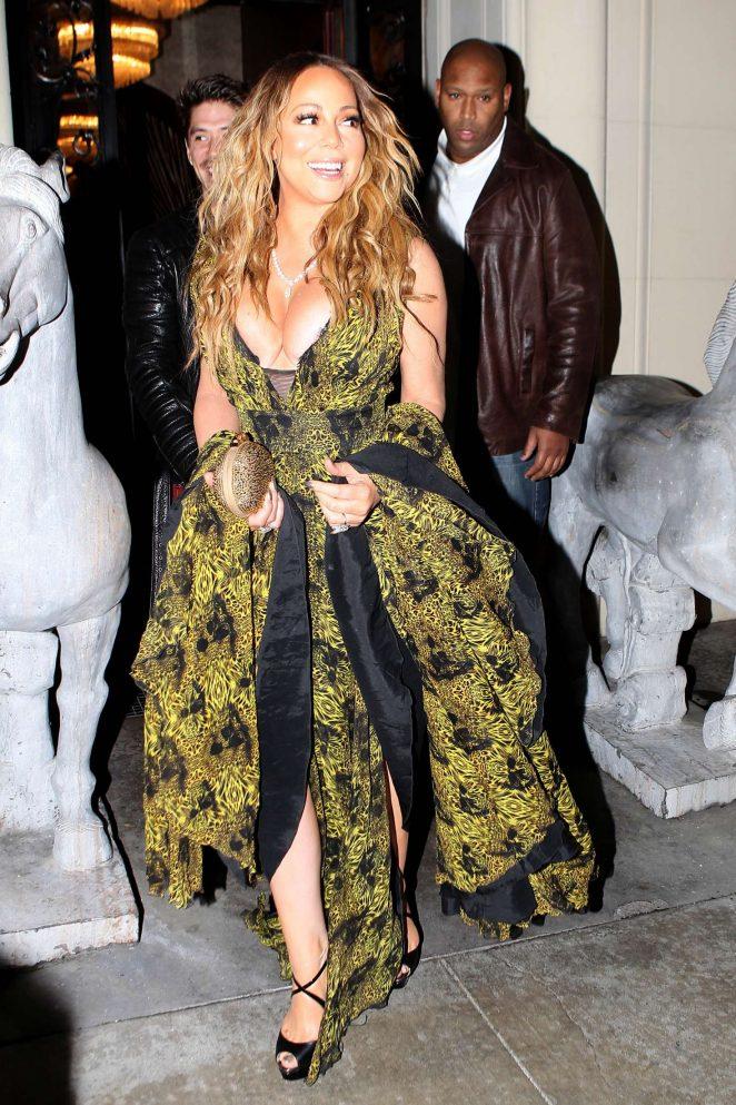 Mariah Carey at Mastros Steakhouse -16