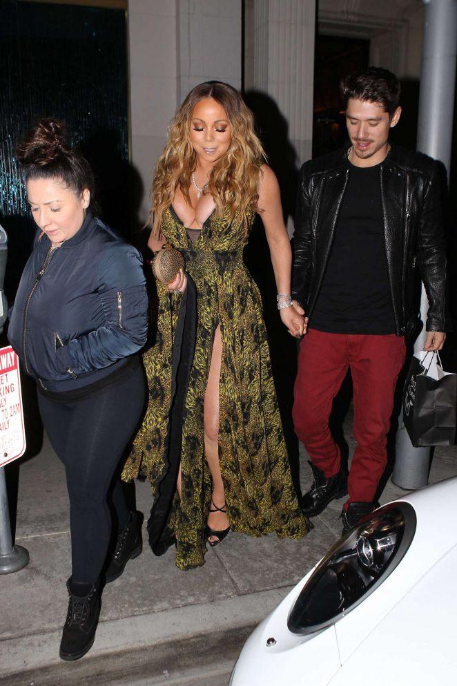 Mariah Carey at Mastros Steakhouse -18