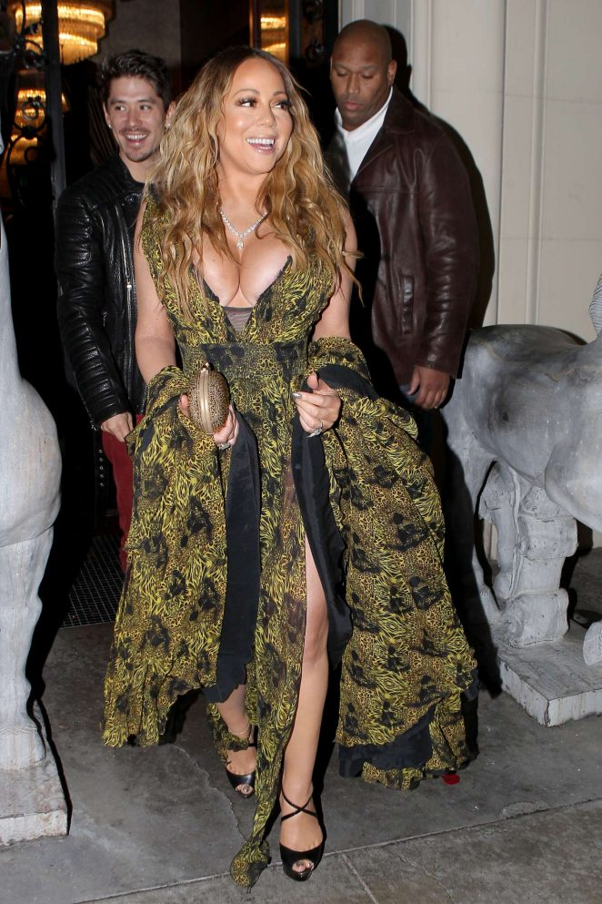 Mariah Carey at Mastros Steakhouse -19