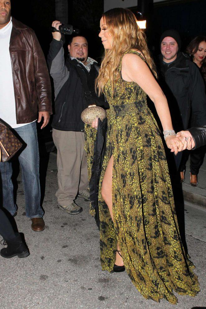 Mariah Carey at Mastros Steakhouse -21