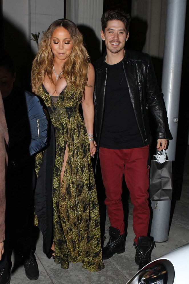Mariah Carey at Mastros Steakhouse -23