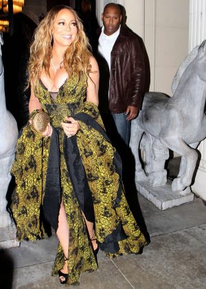 Mariah Carey at Mastro's Steakhouse in Beverly Hills