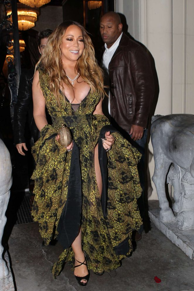 Mariah Carey at Mastros Steakhouse -25