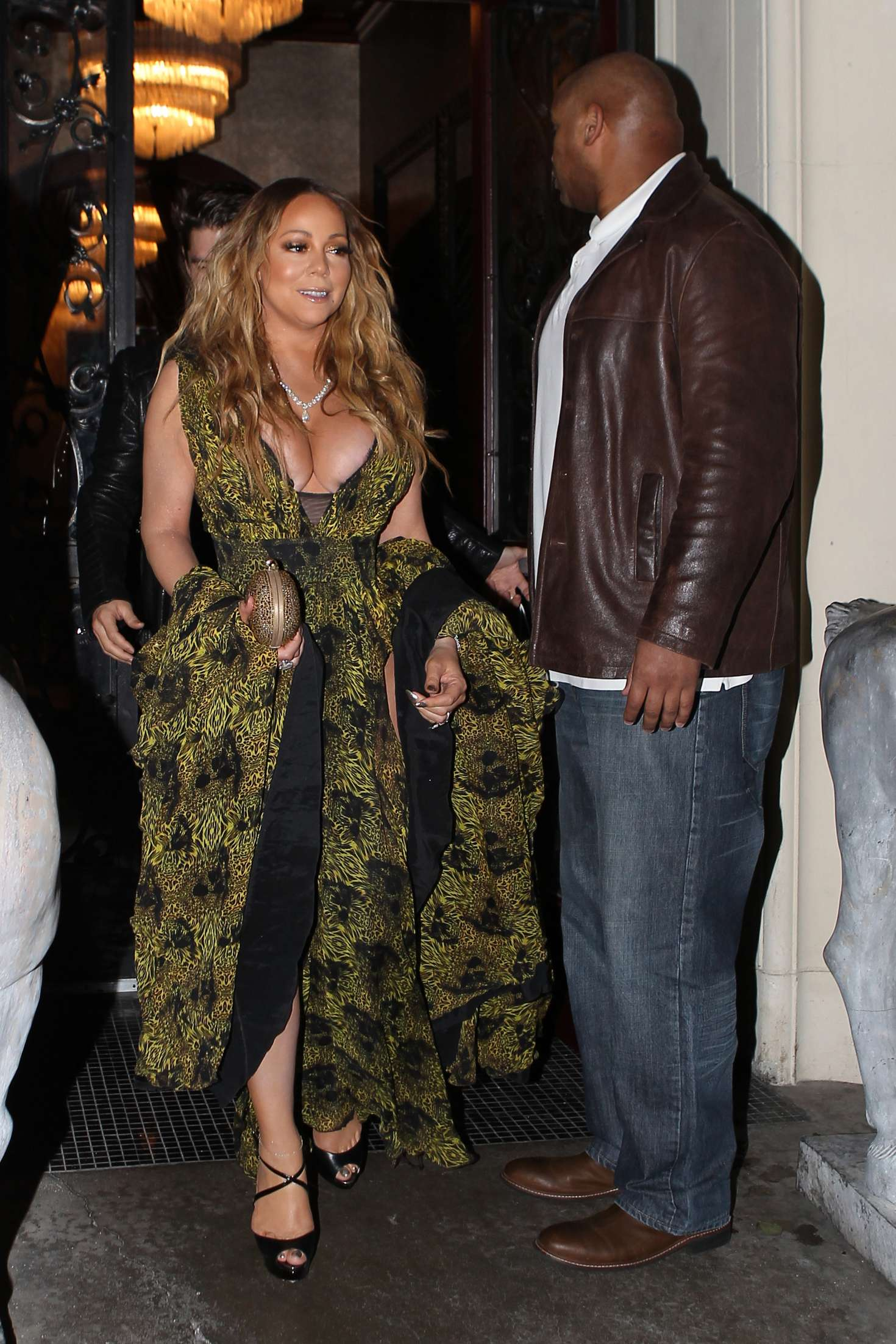 Mariah Carey at Mastros Steakhouse -27