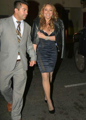 Mariah Carey at Mastros Steakhouse in Los Angeles