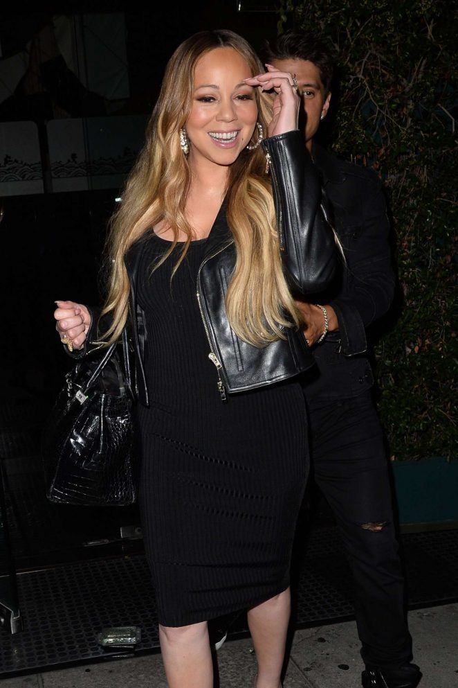 Mariah Carey at Mr Chow restaurant in Los Angeles