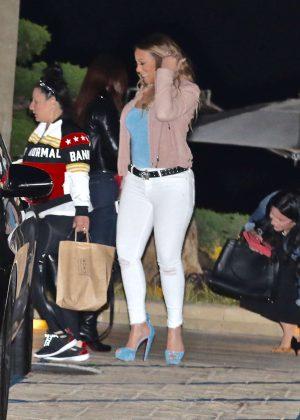 Mariah Carey at Nobu in Malibu