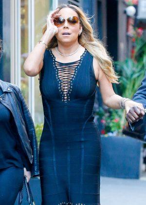 Mariah Carey at Philippe Restaurant in New York