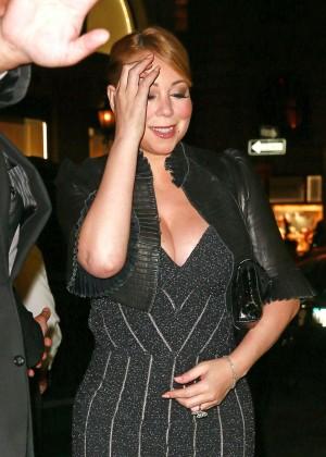 Mariah Carey at Polo Bar in NYC