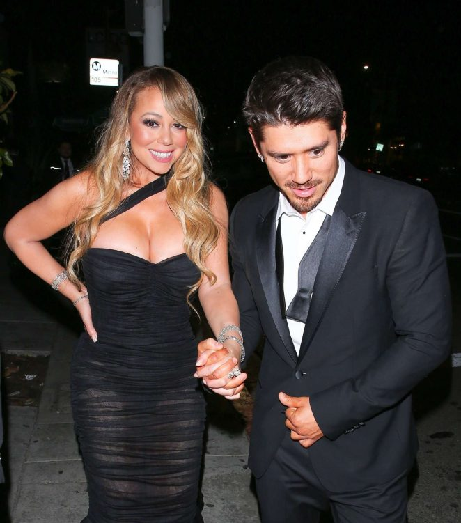 Mariah Carey at Poppy for a Golden Globes After Party in LA