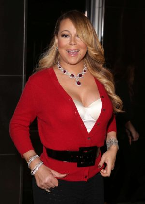 Mariah Carey at the Empire State Building in New York