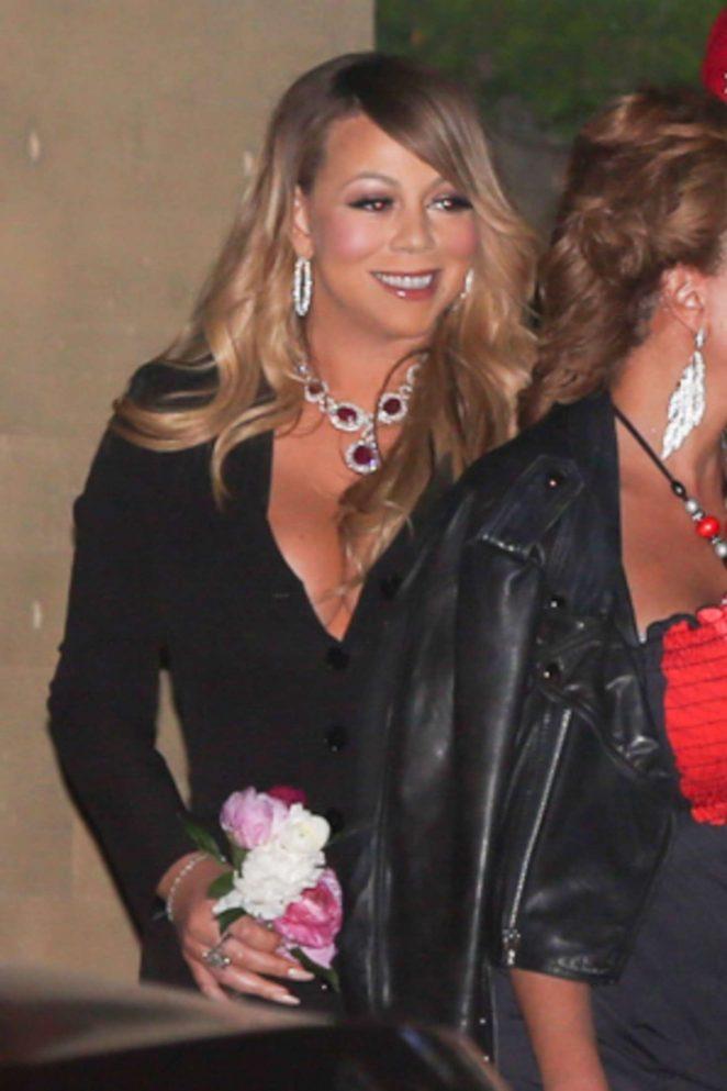 Mariah Carey - Celebrates Mother's Day at Nobu in Malibu