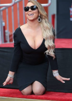 Mariah Carey - Hand and Footprint Ceremony at TCL Chinese Theatre in Hollywood