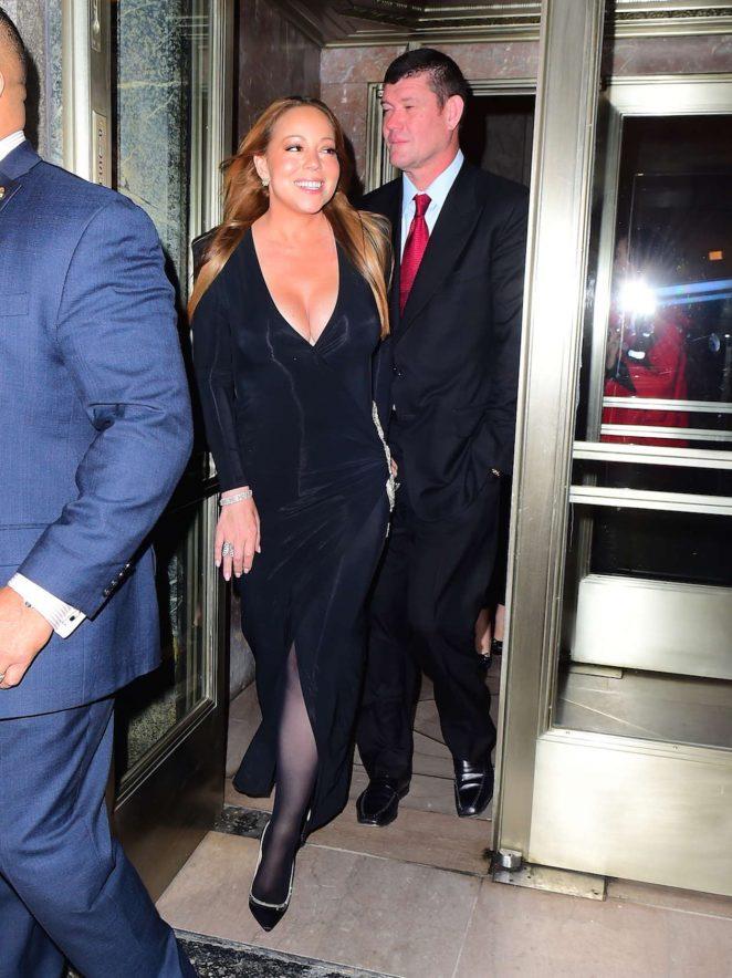 Mariah Carey in Black Dress -04