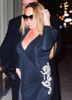 Mariah Carey in Black Dress out in LA