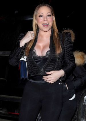 Mariah Carey in Black outfit out in Aspen