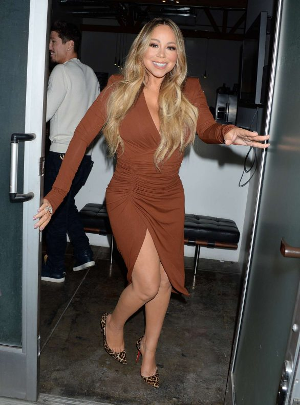 Mariah Carey in Brown Dress - Out and about in Hollywood