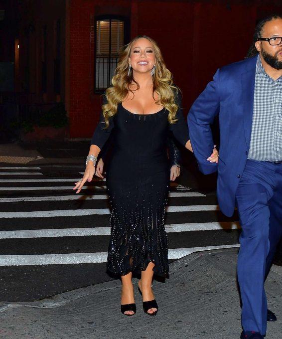 Mariah Carey 2019 : Mariah Carey in Long Black Dress-17