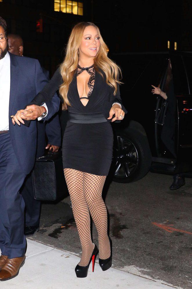 Mariah Carey In Mini Dress 03 Gotceleb