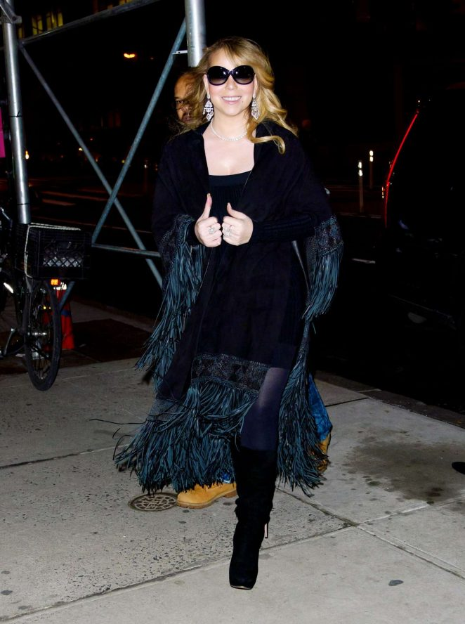 Mariah Carey in Mini Dress out in New York