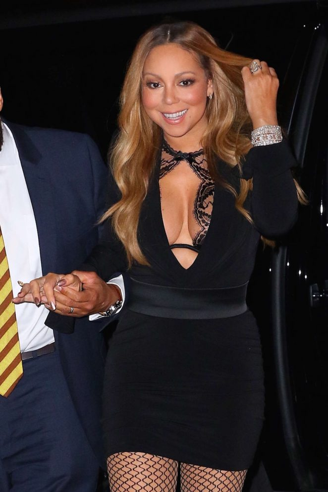 Mariah Carey in Mini Dress out in New York – GotCeleb