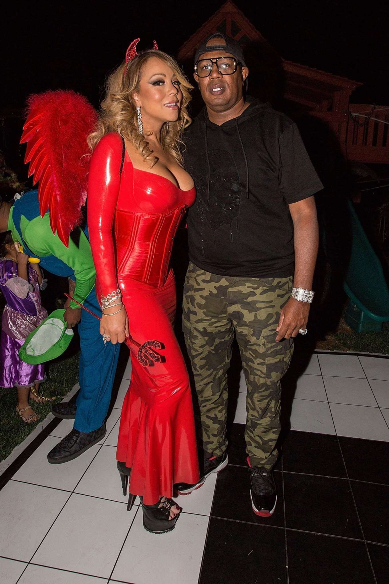 Mariah Carey in Red at Hollywood Halloween Party -01 - GotCeleb