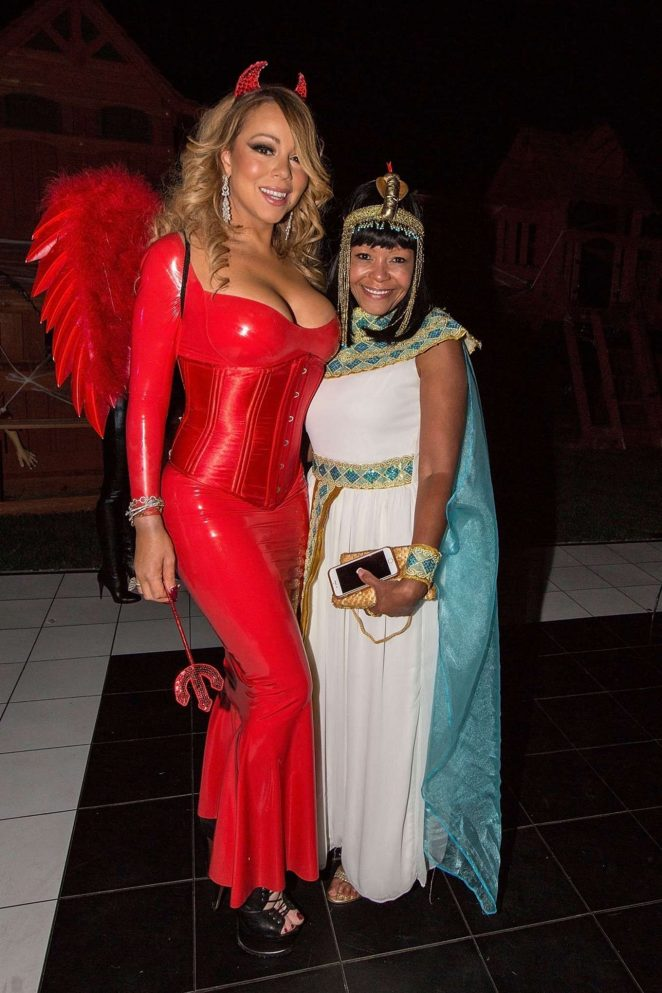 mariah carey in red at hollywood halloween party 05 - Halloween Parties In Hollywood