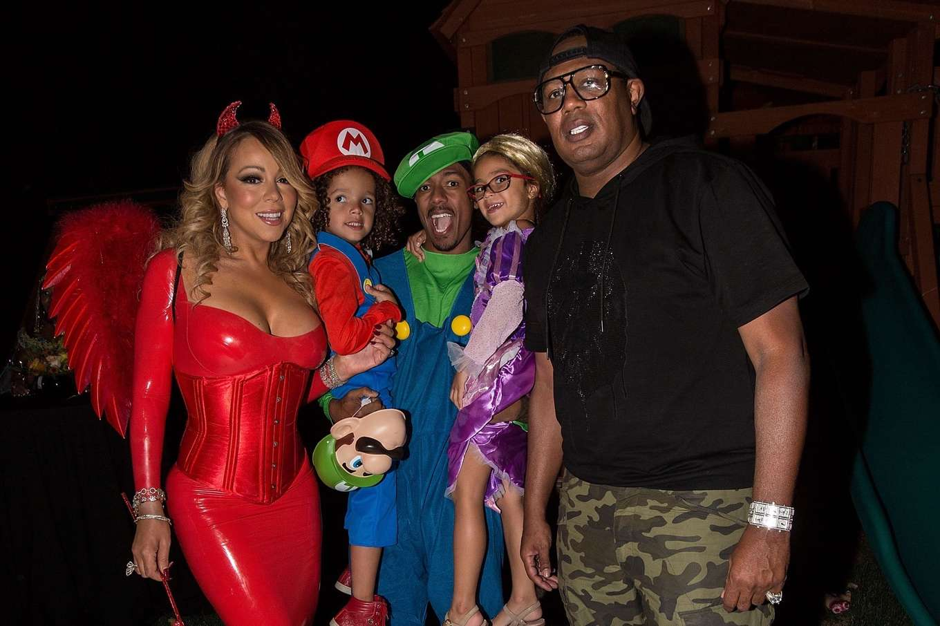 Mariah Carey in Red at Hollywood Halloween Party -14 - GotCeleb