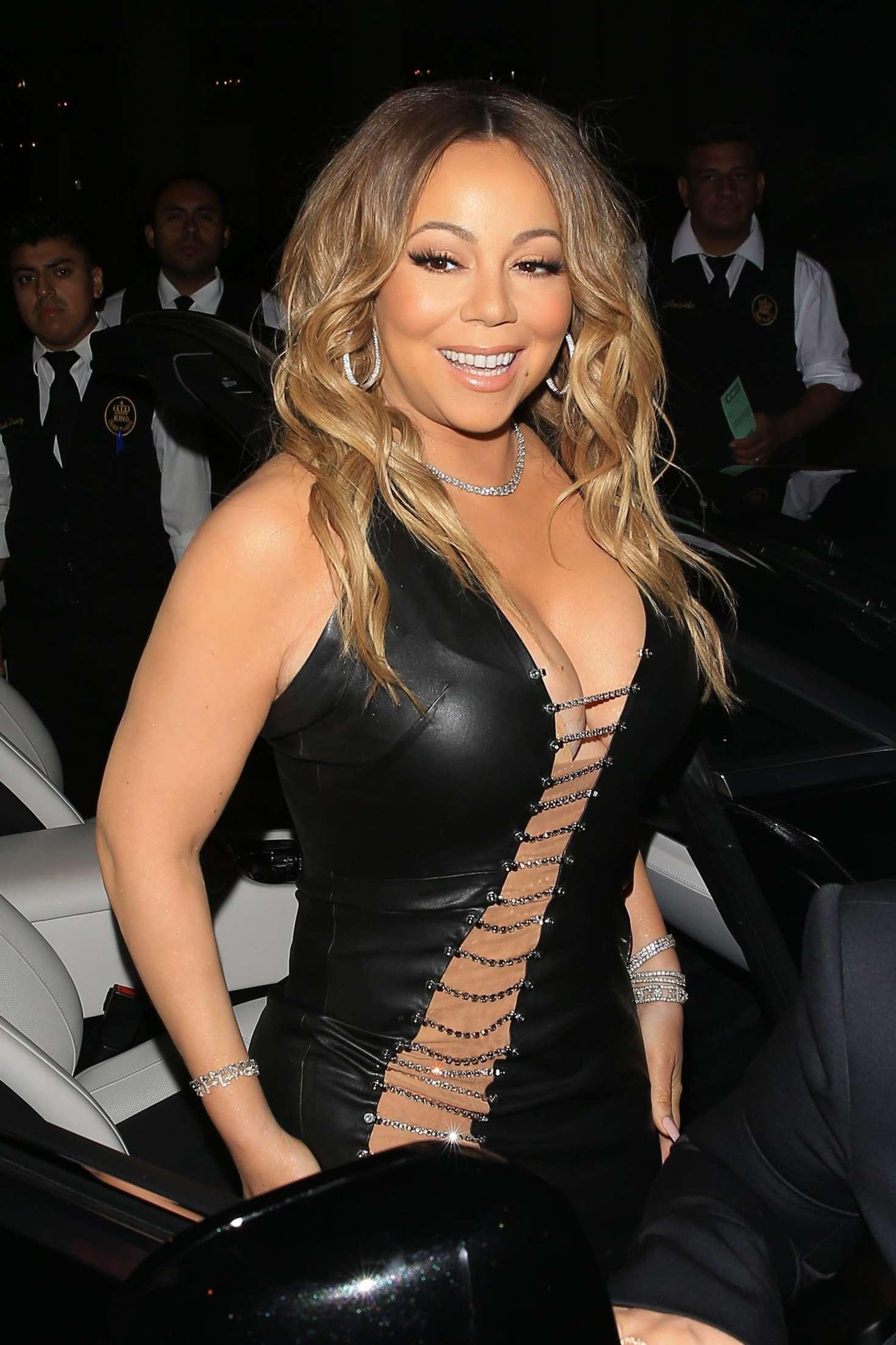 Mariah Carey in Tight Leather Dress -05 - GotCeleb