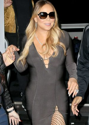 Mariah Carey in tight mini dress out in New York