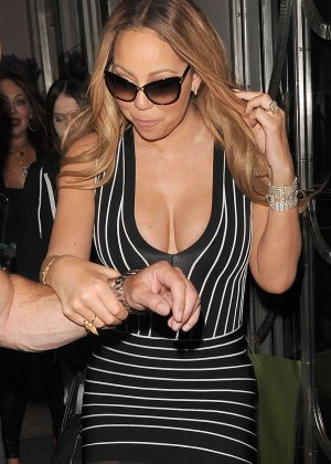 Mariah Carey - Leaves Claridges Hotel in London