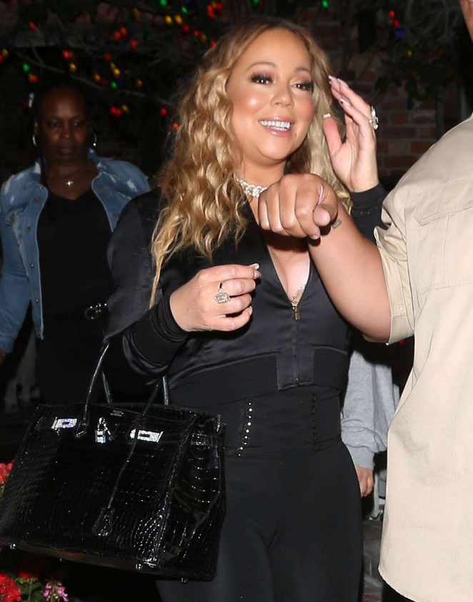 Mariah Carey - Leaves dinner at 'The IVY' Restaurant in West Hollywood
