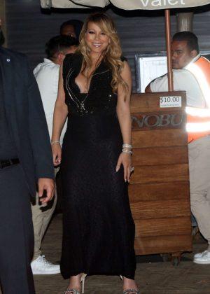Mariah Carey Leaves Nobu in Malibu