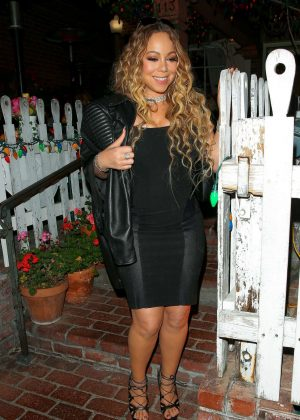 Mariah Carey Leaves The Ivy Restaurant in West Hollywood