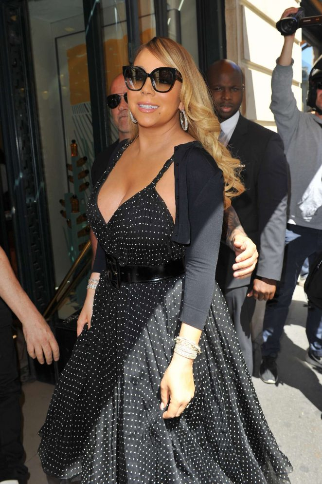 Mariah Carey - Leaves The Plaza Athenee in Paris