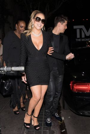 Mariah Carey - leaving Floyd Mayweather birthday party at The Reserve in Los Angeles