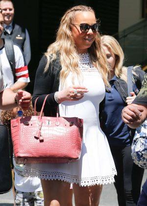 Mariah Carey - Leaving her hotel in Barcelona