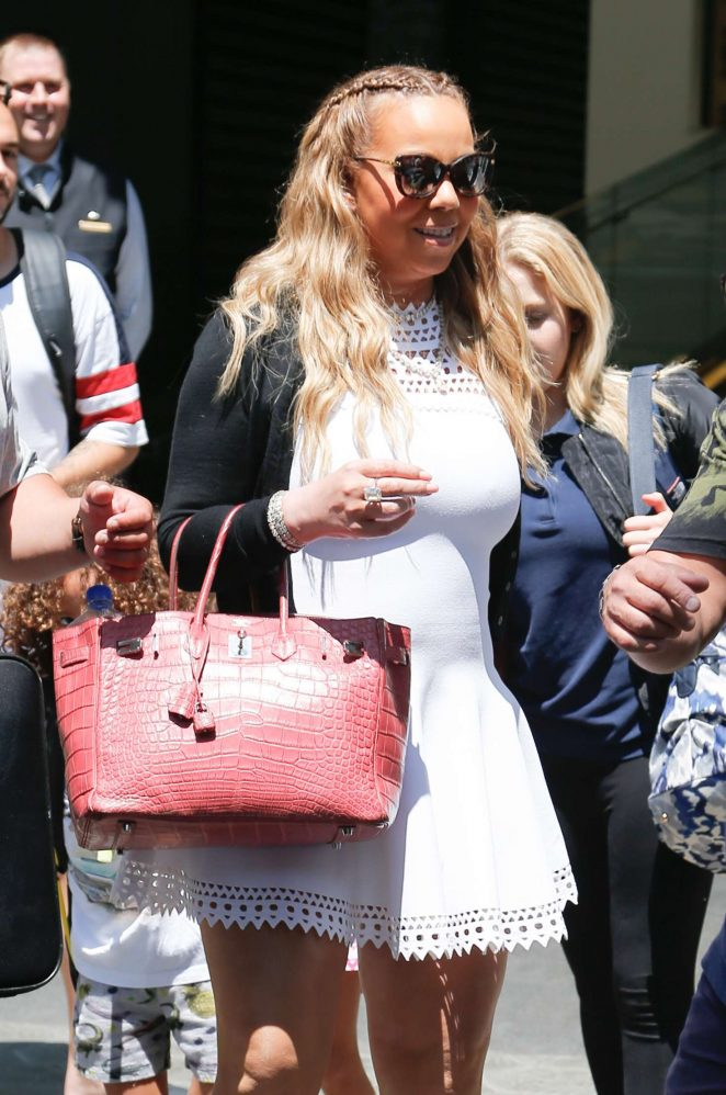 Mariah Carey - Leaving her hotel in Barcelona