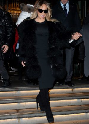Mariah Carey - Leaving her hotel in London