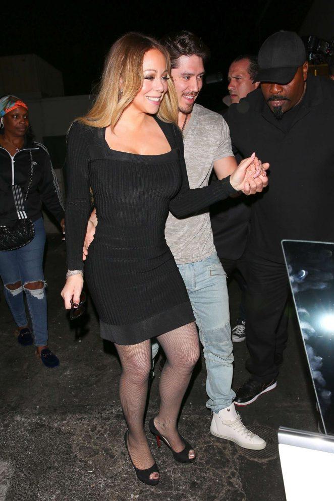 Mariah Carey - Leaving Mastros restaurant in Beverly Hills
