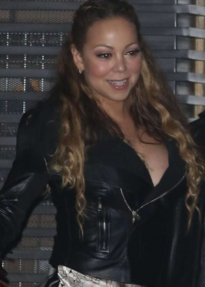 Mariah Carey Leaving Nobu in Malibu