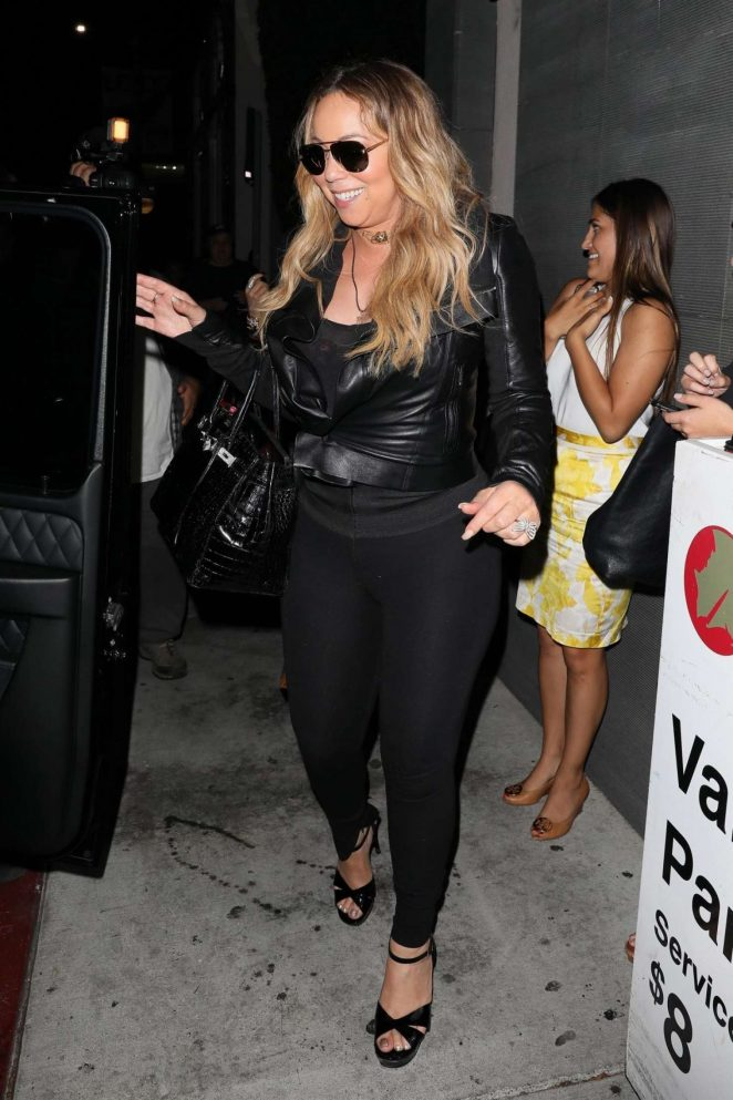 Mariah Carey - Leaving Nobu Restaurant in West Hollywood
