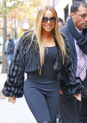 Mariah Carey - Leaving the Electric Lady Studios in New York